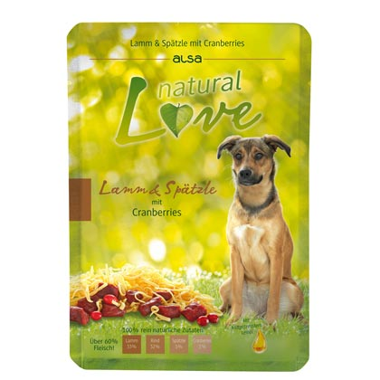 alsa natural Love Lamm & Spätzle mit Cranberries
