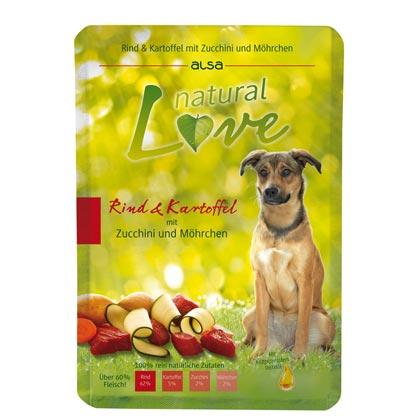 alsa natural Love Rind & Kartoffel mit Zucchini und Möhrchen