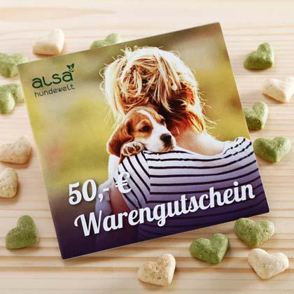 Sonder-Prämie: Warengutschein im Wert von 50,- €