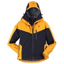 Pinewood® Damenjacke Finnveden Hybrid Extreme schwarz-gelb, Gr. XS