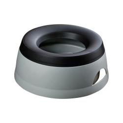 Reisenapf Road Tour grau-schwarz, Durchmesser:  ca. 20 cm