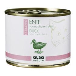 alsa-nature NORDLAND Ente von nordischen Landen Nassfutter, 200 g, Katzenfutter nass