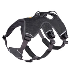 Ruffwear Hundegeschirr Web Master schwarz, Breite: ca. 19 mm, Bauchumfang: ca. 33 - 43 cm
