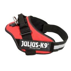 Julius-K9® Hundegeschirr Power IDC rot, Breite: ca. 50 mm, Bauchumfang: ca. 82 - 118 cm - alsa-hundewelt