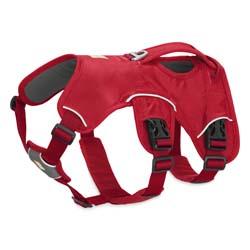 Ruffwear Hundegeschirr Web Master rot, Breite: ca. 19 mm, Bauchumfang: ca. 33 - 43 cm