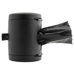flexi Kotbeutelspender Multi Box schwarz, Länge: ca. 7 cm, Durchmesser:  ca. 5 cm
