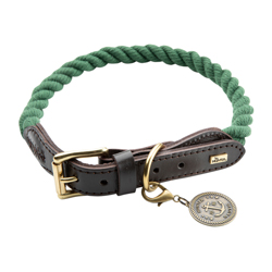 HUNTER Hundehalsband List grün, Breite: ca. 38 – 44 cm, Durchmesser:  ca. 12 mm - alsa-hundewelt
