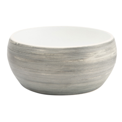 Hundenapf Diner Stone grau-weiß