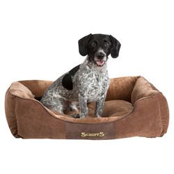 Scruffs Hundebett Chester Box braun, Außenmaße: ca. 50 x 40 cm - alsa-hundewelt