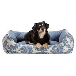 alsa-brand Hundebett Barock blau-beige, Außenmaße: ca. 70 x 60 x 22 cm - alsa-hundewelt