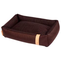 NUFNUF Hundebett Bobbie braun, Außenmaße: ca. 55 x 35 x 15 cm - alsa-hundewelt