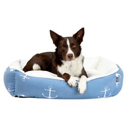Hundebett Anker blau, Außenmaße: ca. 65 x 50 cm - alsa-hundewelt