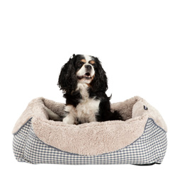 Hundebett Sweet Dreams grau-kariert, Maße: ca. 60 x 48 x 18 cm - alsa-hundewelt