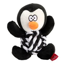 Hundespielzeug Penguin Knottie schwarz-weiß, Länge: ca. 20 cm, Durchmesser:  ca. 9 cm