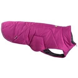 Ruffwear Hunde-Wintermantel Quinzee lila, Rückenlänge: ca. 30,5 cm, Bauchumfang: ca. 33-43 cm, Halsumfang: ca. 41 cm - alsa-hundewelt