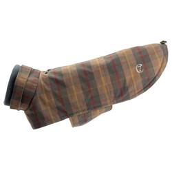 Cloud7® Hundemantel Brooklyn Two braun-kariert, Rückenlänge: ca. 28 cm, Brustumfang: ca. 33 – 39 cm - alsa-hundewelt