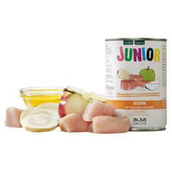 alsa-nature JUNIOR Huhn mit Pastinake & Apfel Nassfutter, Anzahl: 400 g, 400 g, Hundefutter nass