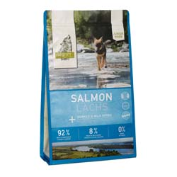isegrim® Junior RIVER Lachs mit Beeren & Wildkräutern Trockenfutter, 3 kg, Hundefutter trocken - alsa-hundewelt