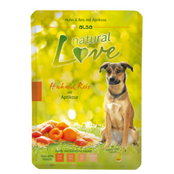 alsa natural Love Huhn & Reis mit Aprikose, 12 x 300 g, Hundefutter - alsa-hundewelt