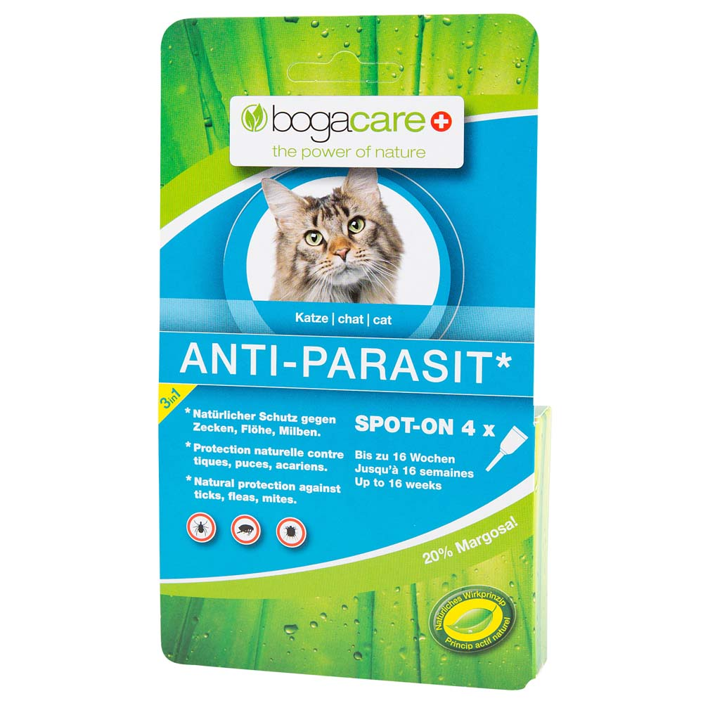 bogacare® Katzen Spot-On Anti-Parasit, 4 x 0,75 ml