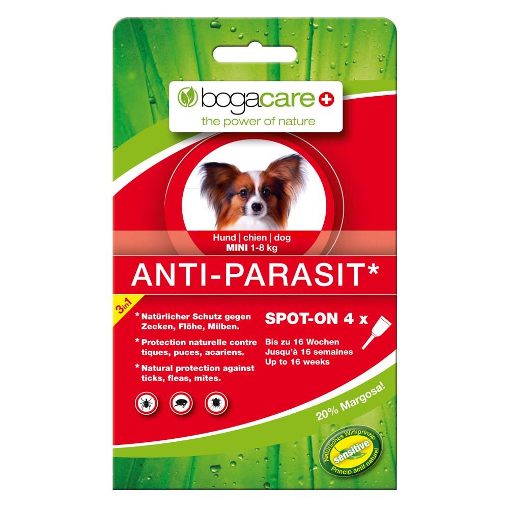 bogacare® Hunde Spot-On Anti-Parasit Mini, 4 x ...