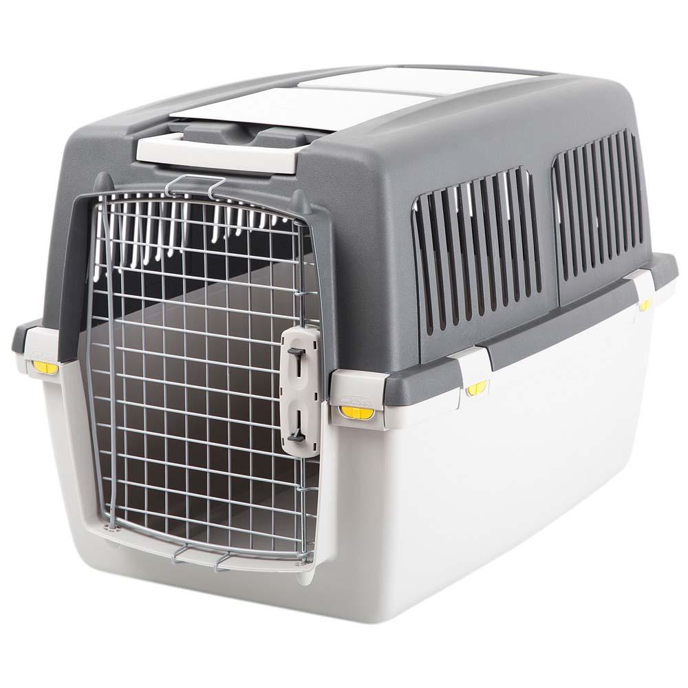 Hunde-Transportbox Gulliver IATA grau-schwarz, Gr. 1 - alsa-hundewelt