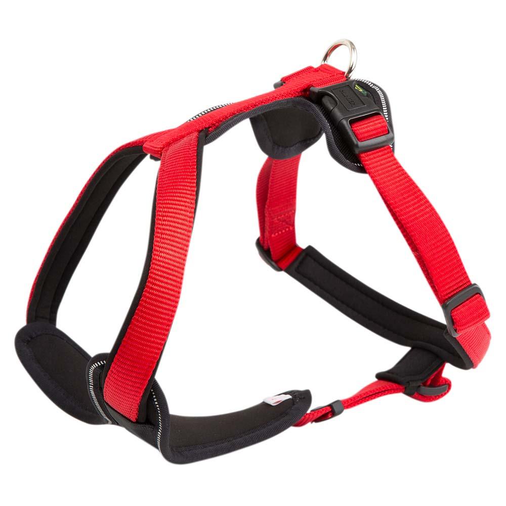 HUNTER Hundegeschirr Neopren rot, Farbe: rot, Gr. 1 - alsa-hundewelt