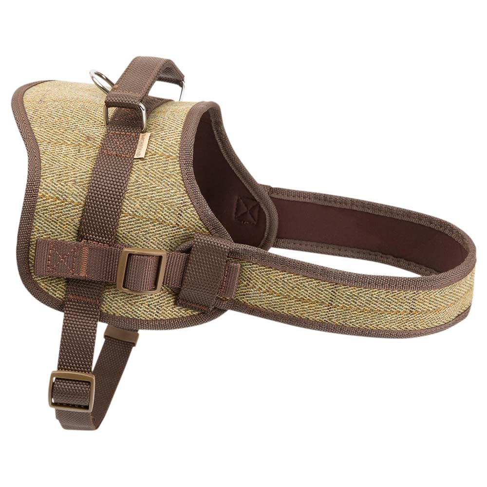 Earthbound Hundegeschirr Tweed Harness grün, Gr. 1 - alsa-hundewelt