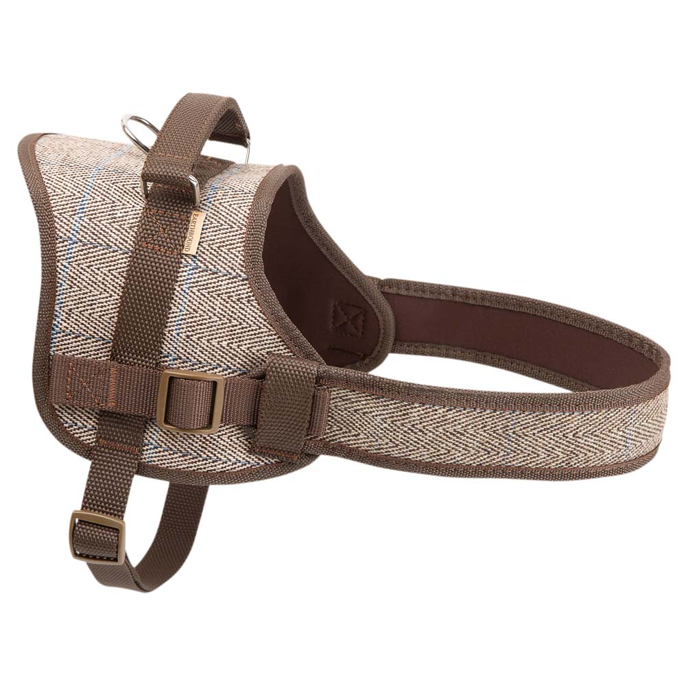 Earthbound Hundegeschirr Tweed Harness beige, Gr. 1 - alsa-hundewelt