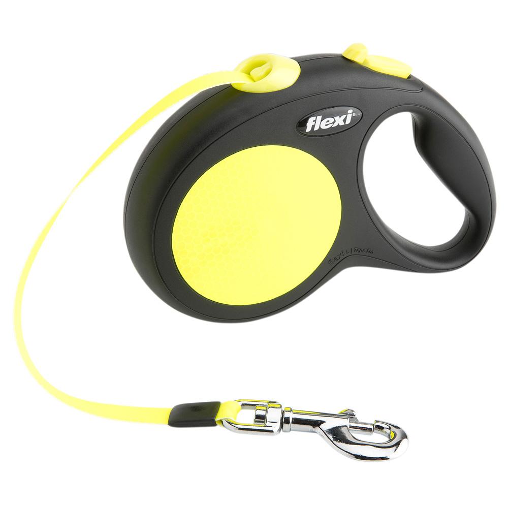 flexi Hundeleine New Neon Gurt schwarz-neongelb - alsa-hundewelt