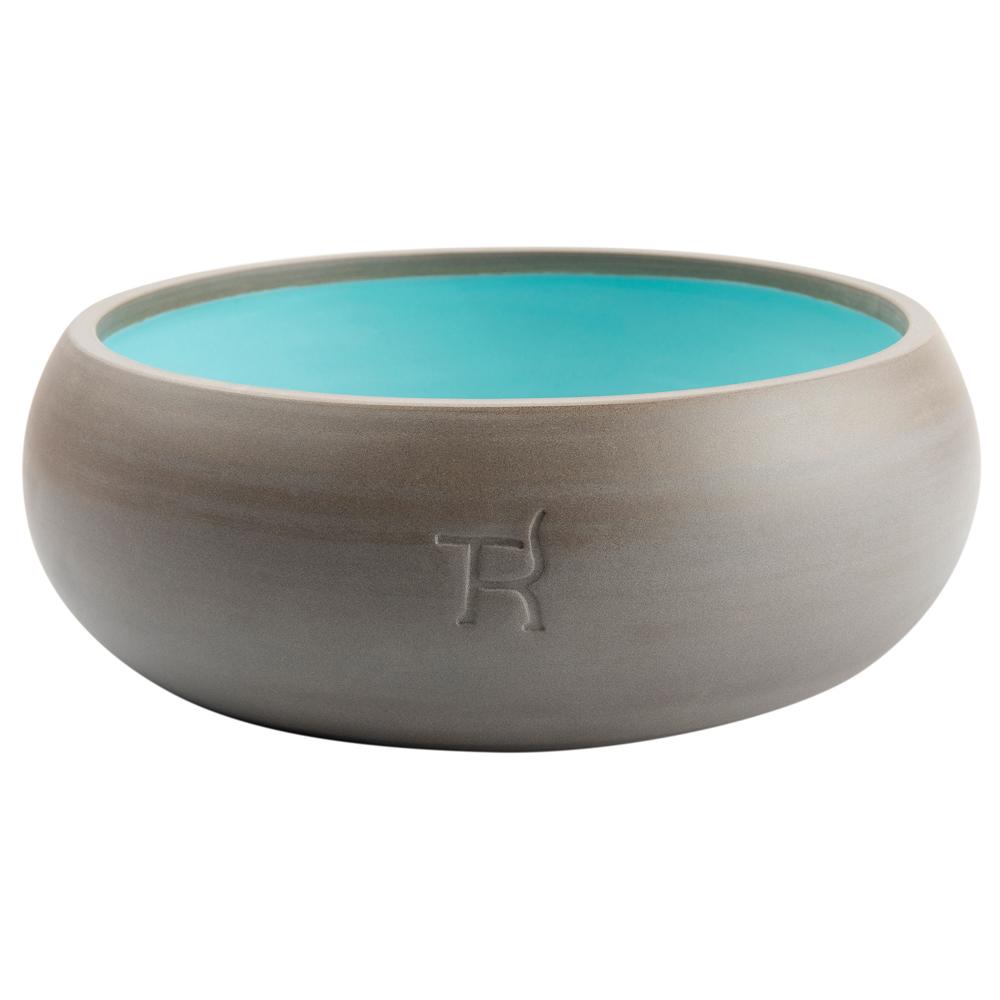 treusinn. Hundenapf Keramik pur grau-blau, Gr. 1 - alsa-hundewelt