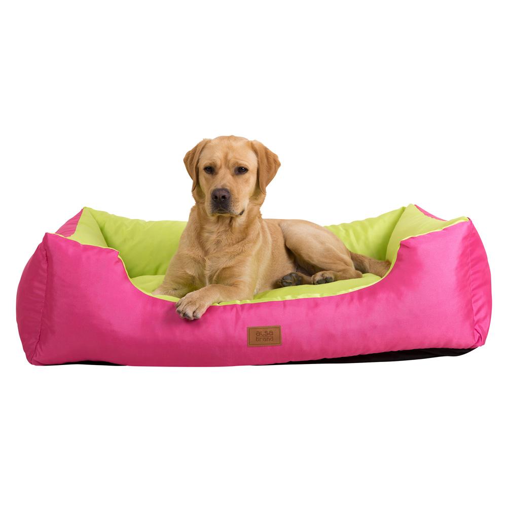 alsa-brand Hundebett Gute-Laune pink-hellgrün, Farbe: pink-hellgrün, Gr. 1 - alsa-hundewelt