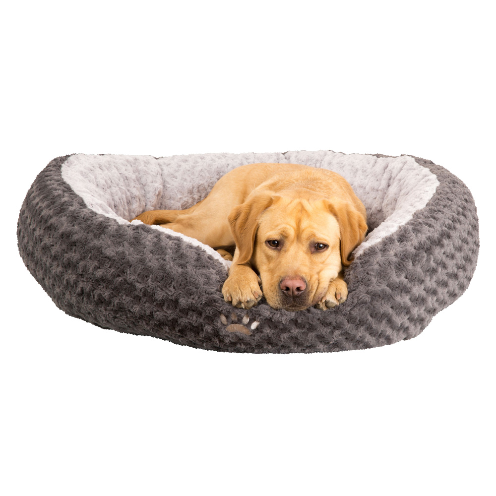 Hundebett Donut-Dream grau, Farbe: grau, Gr. 1 - alsa-hundewelt