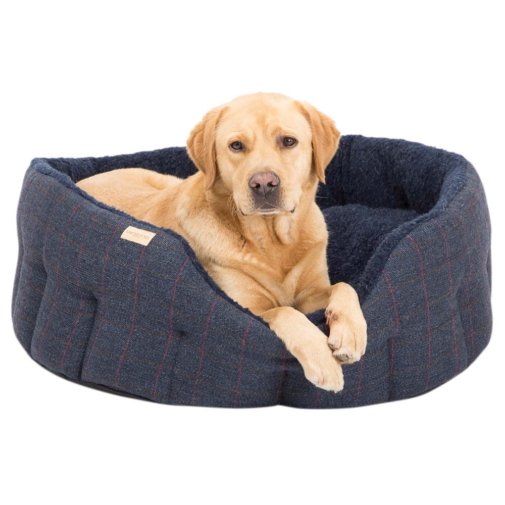 Earthbound Hundebett Traditional Tweed navy, Gr. 1 - alsa-hundewelt