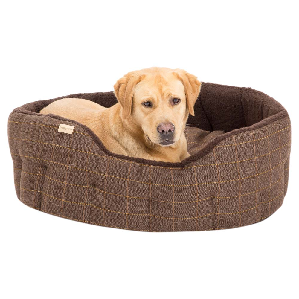 Earthbound Hundebett Traditional Tweed braun, Gr. 1 - alsa-hundewelt