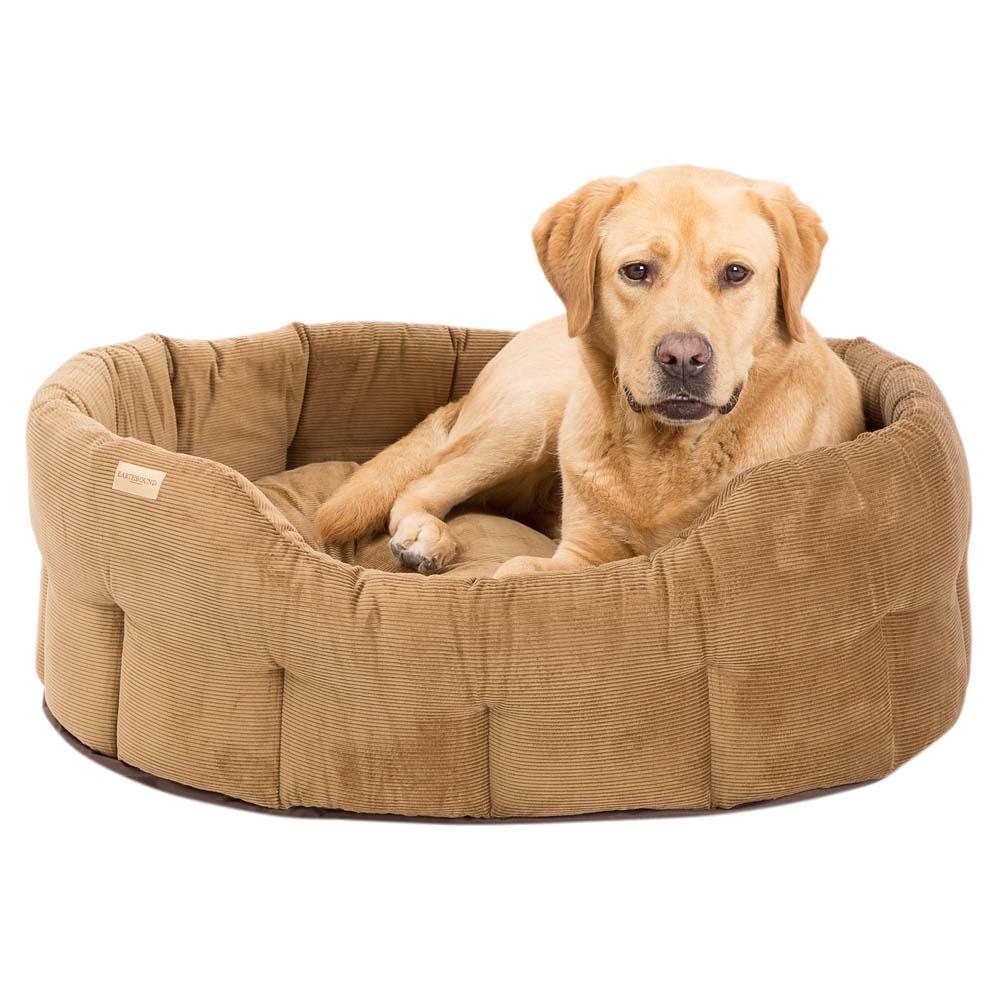 Earthbound Hundebett Classic Cord beige, Gr. 2 - alsa-hundewelt