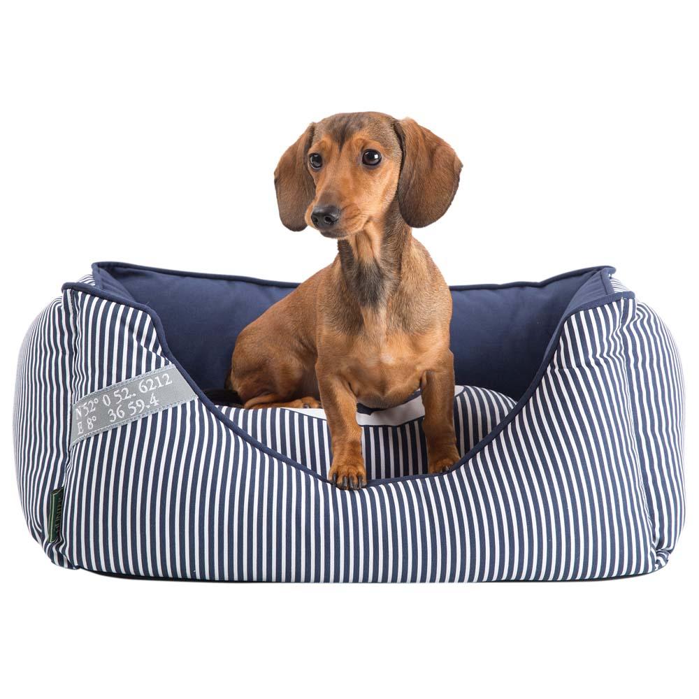 HUNTER Hundebett Midlum blau-weiß, Gr. 1 - alsa-hundewelt