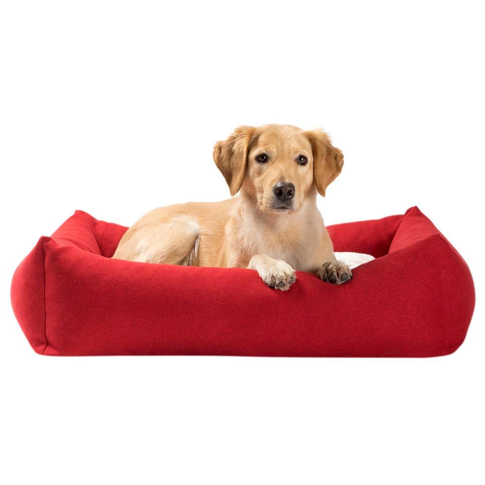 alsa-brand Hundebett Square rot-weiß, Gr. 1 - alsa-hundewelt