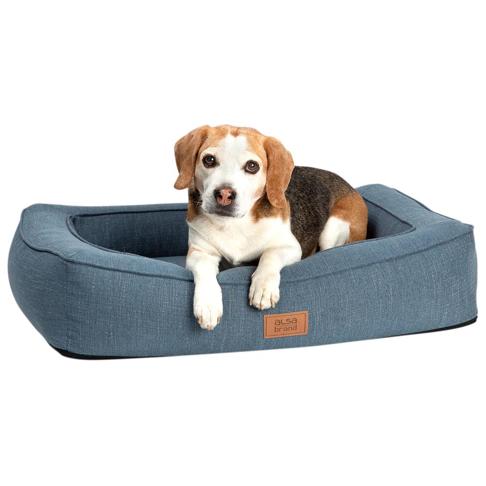 alsa-brand Hundebett Ortho Lounge grau-blau, Gr. 1 - alsa-hundewelt