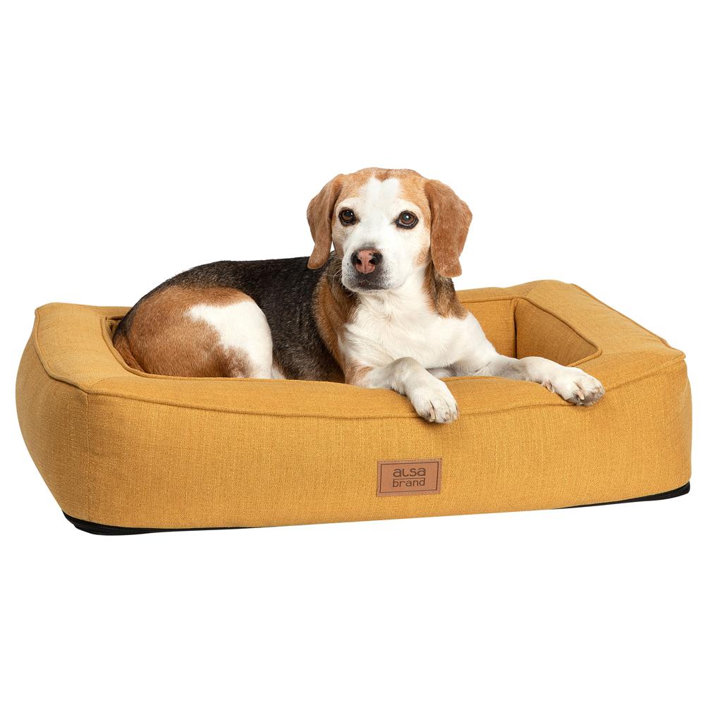 alsa-brand Hundebett Ortho Lounge ocker, Gr. 1 - alsa-hundewelt