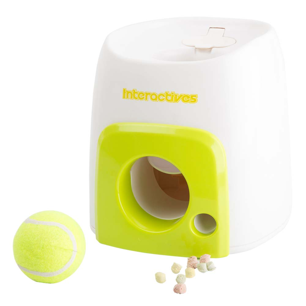 Interaktiv-Hundespielzeug Fetch'n Treat weiß-grün - alsa-hundewelt