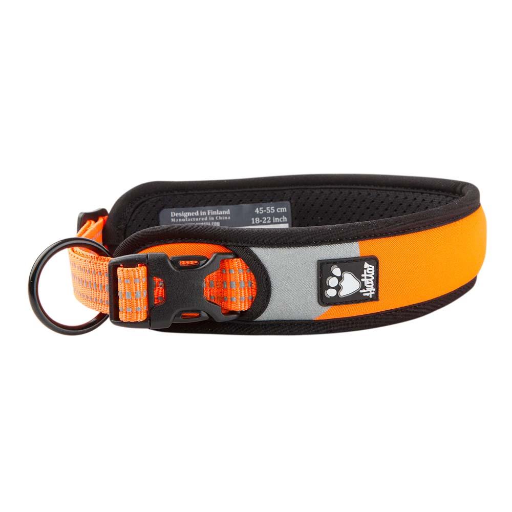 Hurtta Hunde-Halsband Dazzle neonorange-schwarz, Gr. 4 - alsa-hundewelt