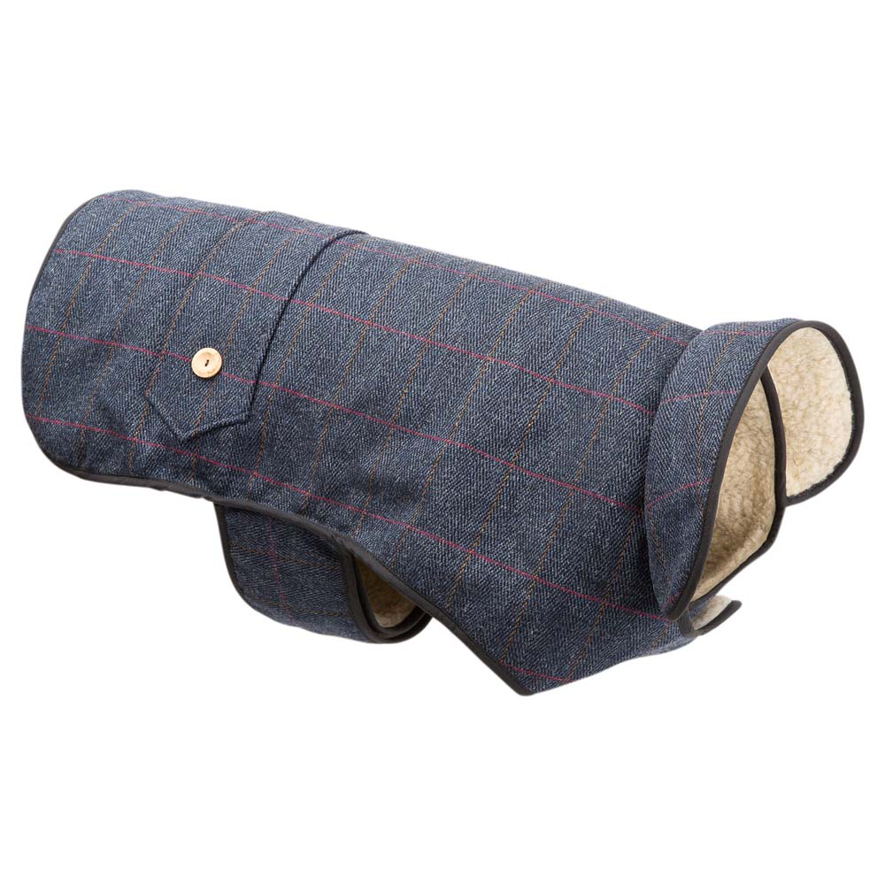 Earthbound Hundemantel Tweed Sherpa blau, Gr. 6 - alsa-hundewelt
