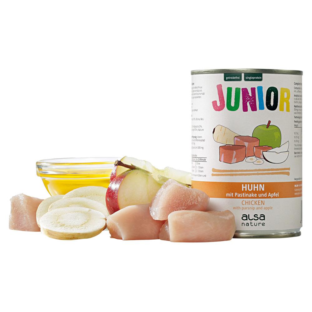 alsa-nature Hundefutter Huhn mit Pastinake & Apfel Nassfutter, 400 g