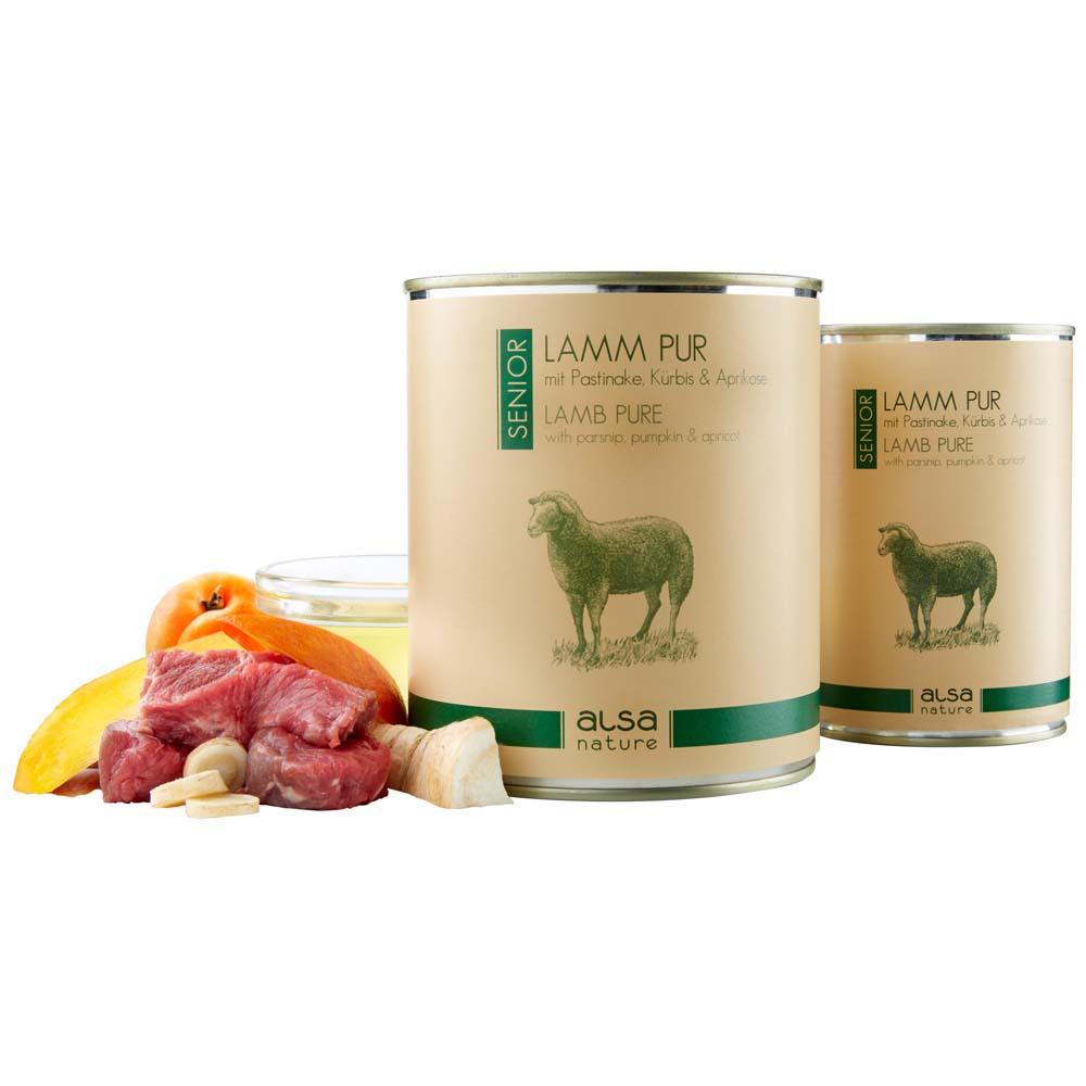 alsa-nature Hundefutter Lamm pur mit Pastinake,...