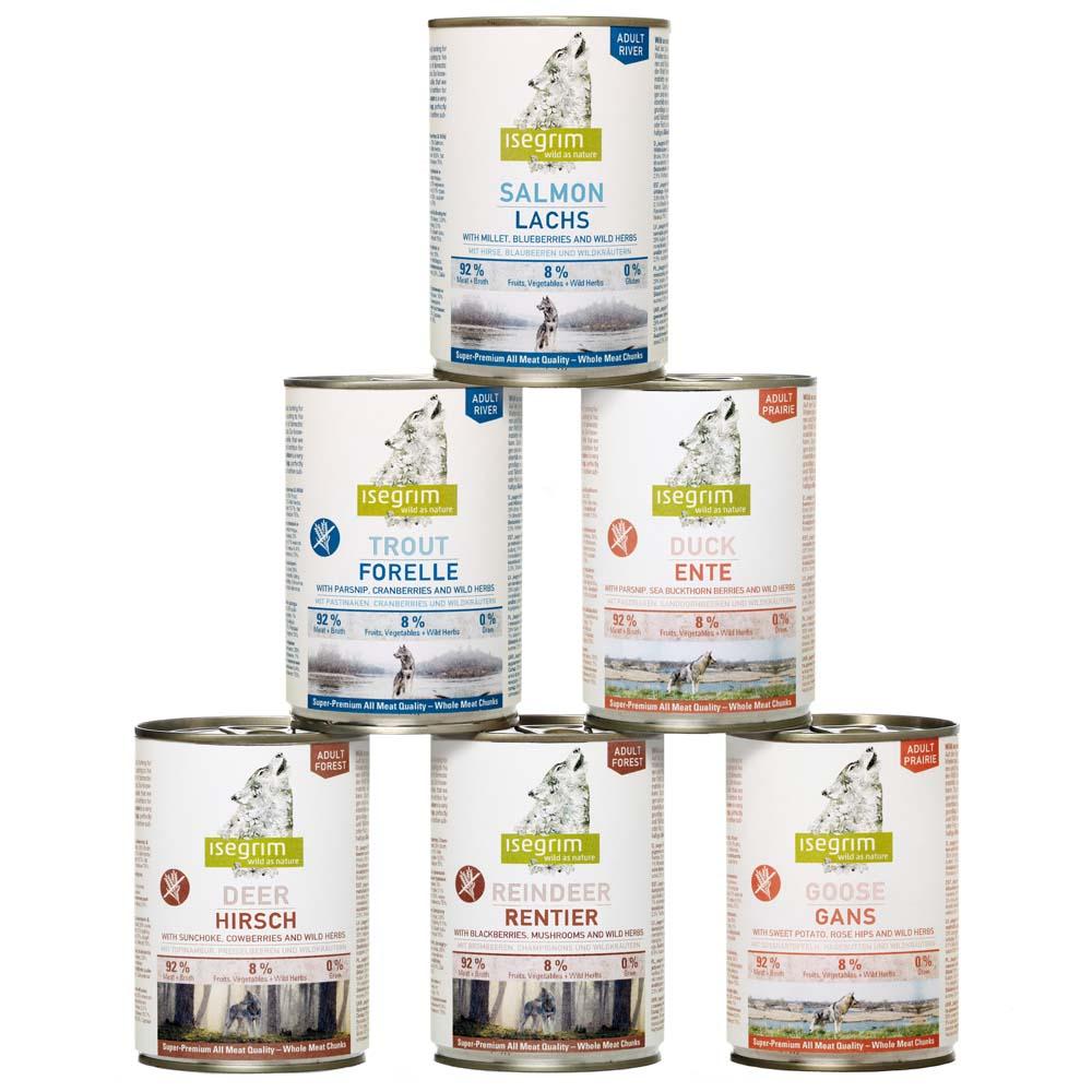 isegrim® Dosen-Menü-Mix, Anzahl: 12 x 400 g, 400 g