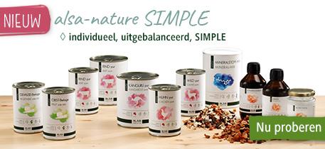 Met alsa-nature SIMPLE kunt u de voeding zelf samenstellen en dat maakt het een echt alternatief voor vers vlees.