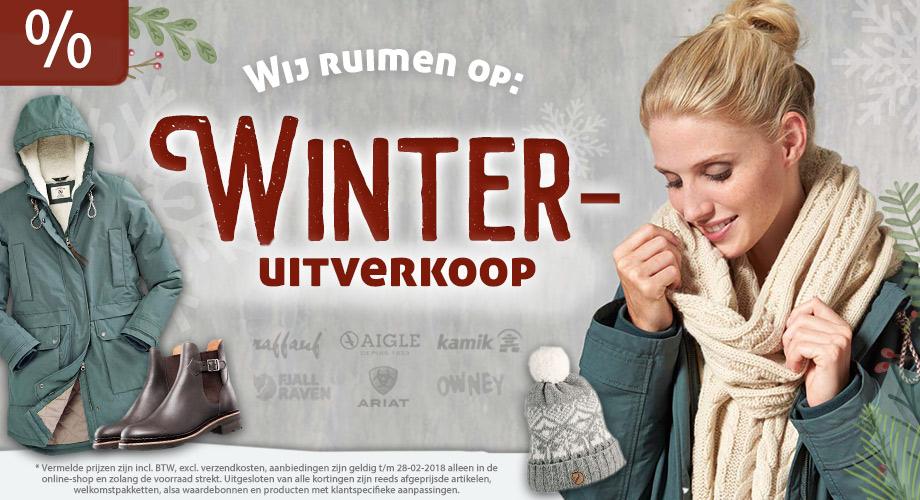 Wij ruimen op: Winteruitverkoop
